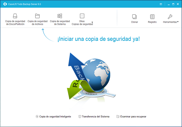 Realizar copia de seguridad de Windows Home Server.