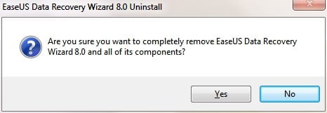 uninstall easeus software